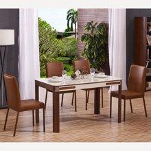 皇家爱慕现代简约饭桌餐台餐桌椅餐厅钢化玻璃餐桌928