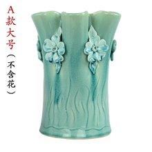 墨菲欧式手工陶瓷花瓶 创意客厅摆件简约装饰干花郁金香仿真花艺