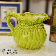 墨菲 韩式小清新田园冰裂釉陶瓷插花干花艺现代简约客厅摆件花瓶
