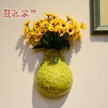 墨菲 现代简约手捏冰裂陶瓷壁挂花瓶 客厅卧室结婚庆礼物家居壁饰