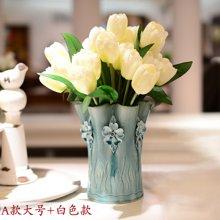 墨菲欧式手工陶瓷花瓶 摆件家居装饰品客厅简约田园清新花艺套装