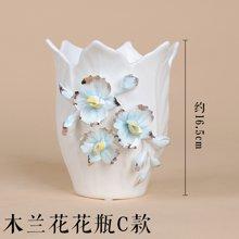 墨菲 欧式现代创意手捏陶瓷花瓶 客厅装饰摆件花艺水培陶瓷花瓶