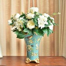 欧式复古花瓶 陶瓷居家卧室客厅落地装饰花器 赏瓶摆件 花艺套装