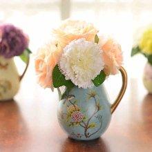 墨菲 欧式现代简约仿真花艺套装 家居客厅餐桌装饰花器花卉插花瓶