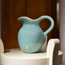 墨菲 玫瑰仿真花欧式现代小清新客厅花瓶装饰品绢花干花插花器