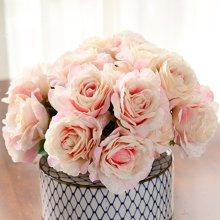 墨菲 现代简约仿真花卧室客厅书房小清新花瓶花艺套装插花器花瓶