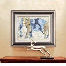 墨菲有框画单幅 七彩象装饰画客厅书房挂画卧室玄关现代欧式壁画