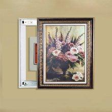 墨菲 欧式客厅背景墙遮挡箱有框画现代简约玄关推拉电表箱装饰画