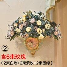 欧式壁挂花艺 插花瓶壁饰挂件田园墙上挂饰墙壁装饰仿真花艺套装