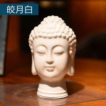 墨菲释迦摩尼佛首小号新中式冰裂釉陶瓷佛头东南亚风禅意家居摆件