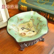 墨菲 欧美乡村田园陶瓷烟灰缸 创意个性时尚客厅茶几装饰烟灰缸