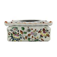 墨菲 米莱欧式纸巾盒创意现代简约餐巾盒陶瓷抽纸盒摆件