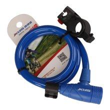 喜德盛 自行车山地车锁防盗 圈形钥匙钢缆锁 带固定架PY3090