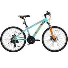 喜德盛童车24寸儿童自行车儿童单车6速机械碟刹避震前叉熊出没官方授权之冠军熊