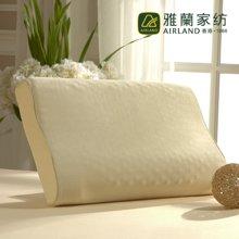 雅兰家纺 天然乳胶保健枕芯 经典曲线按摩枕
