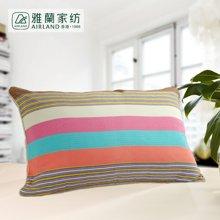 雅兰家纺 护颈高弹枕头彩虹枕套可拆洗枕芯单人彩虹枕 含枕套