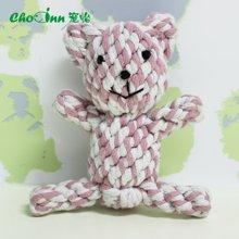 宠怡宠物玩具用品 棉绳玩具棉小熊耐咬磨牙洁齿 猫玩具狗玩具磨牙