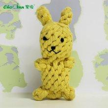 宠怡宠物玩具用品 棉绳玩具棉小兔耐咬磨牙洁齿 猫玩具狗玩具