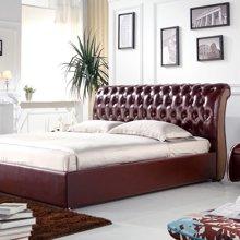 皇家爱慕现代简约欧式 时尚真皮软床结婚床1.8*2米