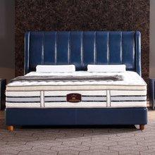 皇家爱慕欧式简约时尚真皮蓝色经典豪华大床