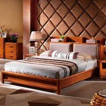 皇家爱慕 橡木床双人床 实木家具中式家具婚床储物双人