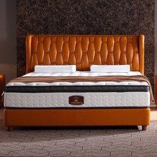 皇家爱慕欧式简约时尚真皮橙色豪华大床