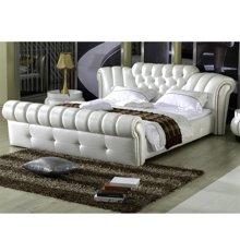皇家爱慕欧式软床 真皮床双人床现代简约