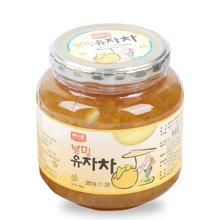 韩国原装进口韩福10.2蜂蜜柚子茶1000g 果肉冲饮 1kg
