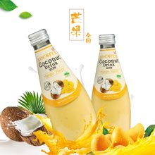 泰国进口饮料乐可芬芒果味椰子汁290ml 含椰果  果汁饮料