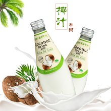 泰国进口饮料乐可芬椰子汁饮料290ml(含椰果25%)正品