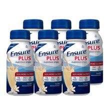 【6瓶装】【美国】ABBOTT雅培 Ensure成人营养液复合液体安素237ml 香草味