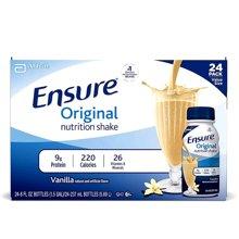 【24瓶】【美国】ABBOTT雅培 Ensure成人营养液复合液体安素237ml 香草味