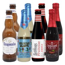 【网红上头酒,女士喜爱啤酒组合】浅粉象 比利时进口 浅粉象 福佳 乐曼 林德曼共8瓶 330ml*4 + 250ml*4(失身组合)