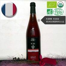 Didier维拉庄园法国进口有机梅洛红葡萄汁,750ml 纯果汁无酒精