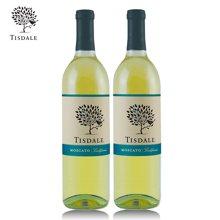 美国原瓶进口红酒 Tisdale天时泰庄园莫斯卡托甜白葡萄酒750mL*2支组合装红酒