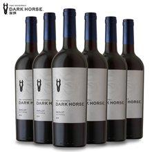 美国原装进口红酒 骏琪美乐干红葡萄酒750mL*6支整箱红酒 进口葡萄酒