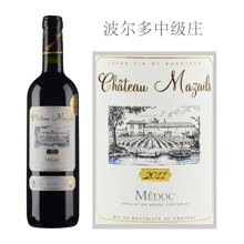 法国波尔多中级庄 马莎尔城堡红葡萄酒 2011年