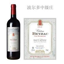 法国波尔多中级庄 贝扎克酒庄红葡萄酒 2012年