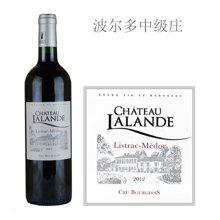 法国波尔多中级庄 拉朗德古堡红葡萄酒 2012年