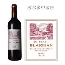 法国波尔多中级庄 碧朗城堡红葡萄酒 2012年