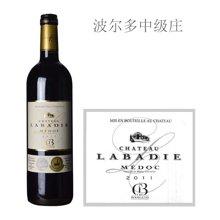 法国波尔多中级庄 拉巴狄酒庄红葡萄酒 2011年