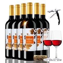 限时特惠 澳洲原瓶进口红酒 魔幻葡叶色拉子红葡萄酒 750ml 六支整箱 聚会宴席佳选