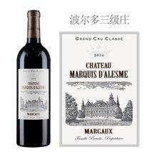 法国1855三级庄 碧加侯爵酒庄红葡萄酒 2014年