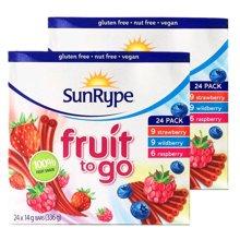 【2盒装】【加拿大】SunRype天然果肉果丹皮24条