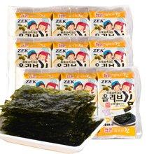 韩国进口特产零食品ZEK橄榄油烤海苔12g*3儿童健康即食海苔
