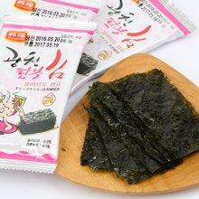 韩国进口 韩福10.2海苔泡菜风味三连包13.5g*2包 即食烤紫菜零食