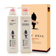 阿道夫 祛屑止痒洗发乳液+护发素 洗护礼盒套装500ml*2