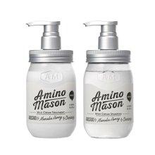 【香港直邮】日本Amino mason氨基酸滋养洗发水 450毫升*1瓶+氨基酸滋养护发素450毫升*1瓶组合装