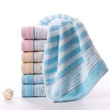 金号 高低毛提缎绣面巾(单条)68*34cm 90g 纯棉