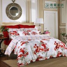 雅兰家纺 纯棉四件套全棉床品套件床上用品4件套 繁花似锦